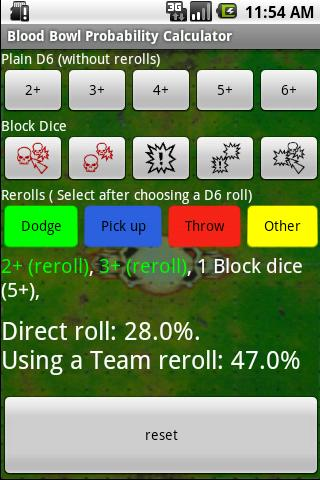 Blood Bowl Probability