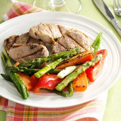 Grilled Pineapple Pork & Vegetables