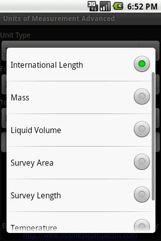 Units of Measurement Advanced
