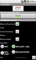 Screenshot of Freebox Wifi