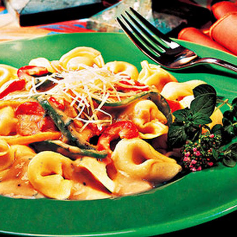 Cheese Tortellini with Cannellini Bean Sauce