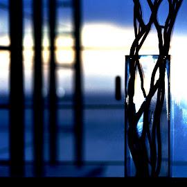 glass vase after dusk by Magdalena Wysoczanska - Artistic Objects Glass ( clear, vase, window, glass, dusk )