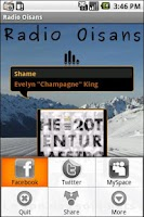 Screenshot of Radio Oisans