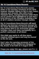 Screenshot of RIO 16 COUNTDOWN/NEWS/RECORDS