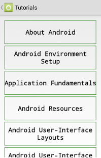 TUTORIAL FOR ANDROID - screenshot