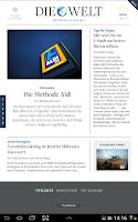 Screenshot of DIE WELT Tablet App
