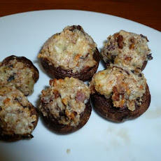 Bacon and Bleu Cheese Stuffed Mushrooms