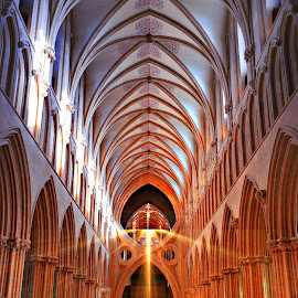 Wells Cathedral by Quentin Robertson - Buildings & Architecture Places of Worship ( church of england, wells cathedral, church architecture, cathedral with ethereal light, stunning cathedral interior, church interior, cathedral interior )