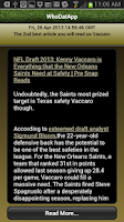 Screenshot of WhoDatApp - New Orleans Saints