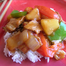 Stir Fry Sweet & Sour Pork or Chicken or Shrimp