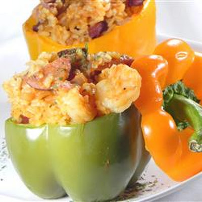 Cajun Style Stuffed Peppers