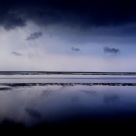 Storm is coming by Arunava Sengupta - Landscapes Cloud Formations ( sea, india, beach, sunrise, storm,  )
