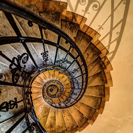 Stairway to Heaven by Matthew Haines - Buildings & Architecture Architectural Detail ( budapest, stairs, church, stairway, staircase, cathedral, spiral, geometric, iron,  )
