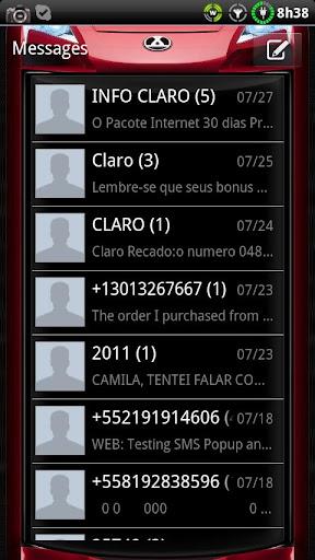 Car GO SMS theme