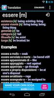 Screenshot of Italian English Dictionary