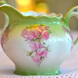 Antique Tea Set, Bemidji, Minnesota by Kathleen Koehlmoos - Artistic Objects Cups, Plates & Utensils ( tea set, pretty dishes, pretty dishwear, german tea set, antique tea set, antiques )