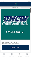 Screenshot of UNCW Team Teal