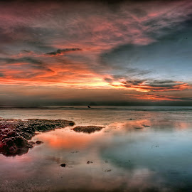 Anyer beach by Dikky Oesin - Landscapes Beaches ( shore, sunset, beautiful, sea, beach )