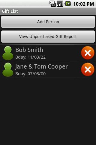 Gift List