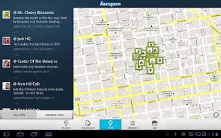 Screenshot of Foursquare for Sony Tablet