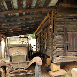 Down On The Farm by Roy Walter - Transportation Automobiles ( car, old, automobile, model t, transportation,  )