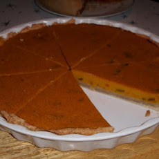 Golden Pumpkin Custard Pie
