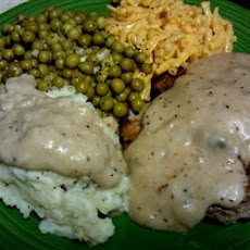 Chicken Fried Steak with Cream Pork Sausage Gravy
