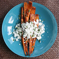 Caramelized Carrots with Herbed Goat Cheese