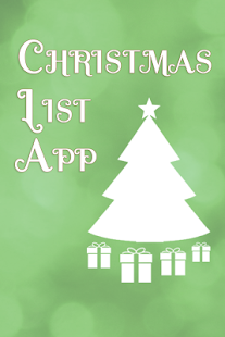 Christmas List App - screenshot