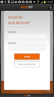 Screenshot of Bluemeta App gas e luce