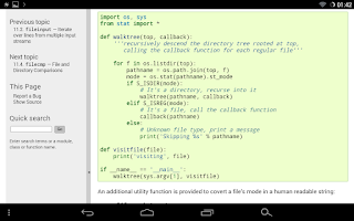 Screenshot of Docs for Python v3.4.1