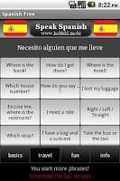 Screenshot of Speak Spanish Free