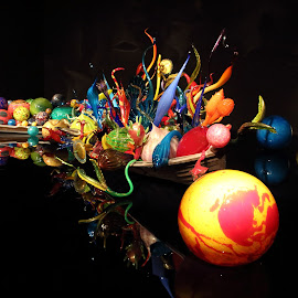Chihuly Boat by Cheryl Petretti - Artistic Objects Glass ( reflection, glass, chihuly gardens,  )