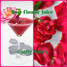 Homemade Rose Flower Juice | Rose Petal Juice
