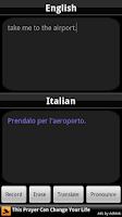Screenshot of BabelFish Voice: Italian