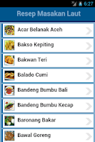 Screenshot of Resep Masakan Laut
