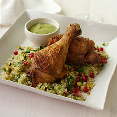 Crisp Spiced Chicken with Hummus Vinaigrette