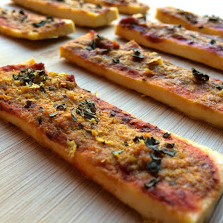 Vegan Tofu Pizza Sticks (Gluten-Free!)