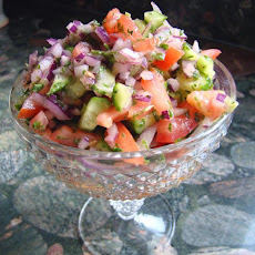 Persian Tomato and Cucumber Salad (Salad Shiraz)