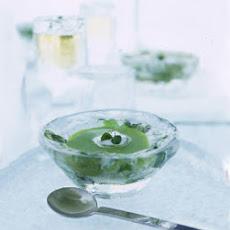 Chilled Pea Broth with Lemon Cream