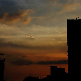 by Fredy Saputra - City,  Street & Park  Skylines ( sky, sunsets, silhouette, buildings, nightscape )