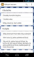 Screenshot of Česká kuchařka