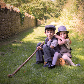 Country Bumpkins by Sare Moonfruit - Babies & Children Child Portraits ( countryside, child, england, somerset, childhood, portrait )