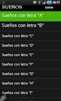 Screenshot of Diccionario de Sueños