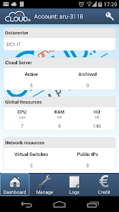 Aruba Cloud Computing - screenshot