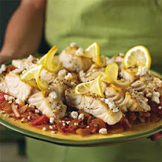 Broiled Mahi-Mahi With Parsleyed Tomatoes