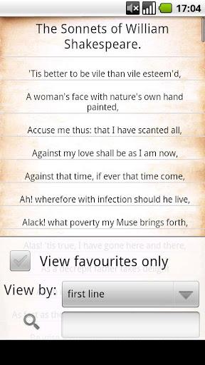 莎士比亞十四行詩分享