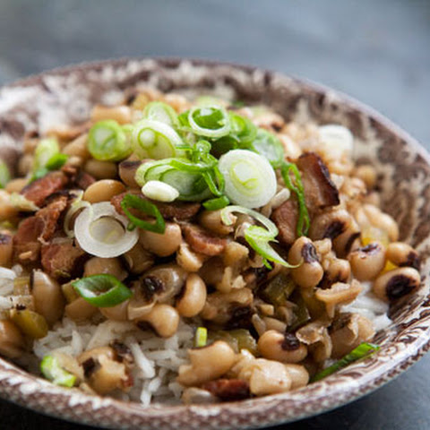 Slow Cooker Lucky Black Eyed Peas and Ham {Hoppin John} Recipe ...