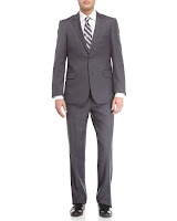 Neiman Marcus Wool Twill Modern Fit Suit, Charcoal - (44L)