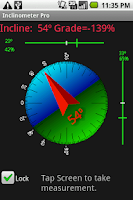 Screenshot of Inclinometer Pro
